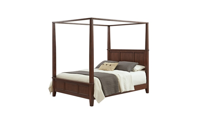 Chesapeake canopy bed groupon for Beds groupon