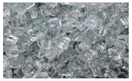 Arctic Ice Clear Fire Glass Firepit Glass Premium 10 Pound Great for Fire Pit Fireglass or Fireplace Glass