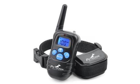 Petsonik No Bark Dog Training Electric Collar 330 Yard Range w/ Remote 885ad0ae-8459-4fb4-95f3-b909a16f9c18
