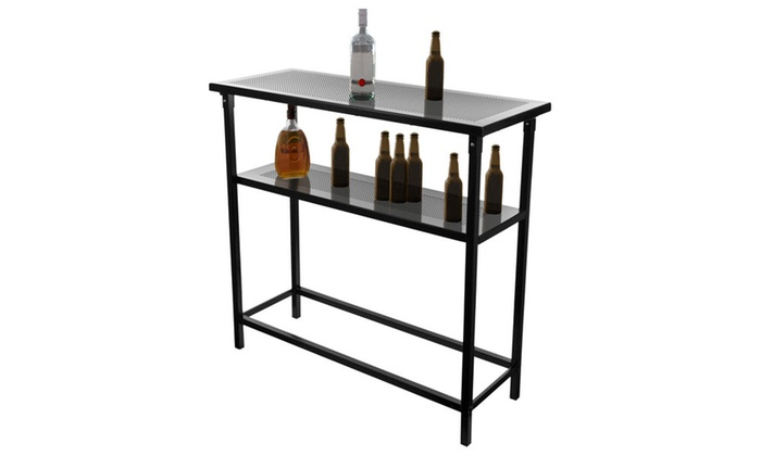 Deluxe Metal Portable Bar Table With Carrying Case Groupon