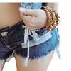 Women's Sexy Low Waist Drawstring Cut Off Nigth Hot Denim Short Pants