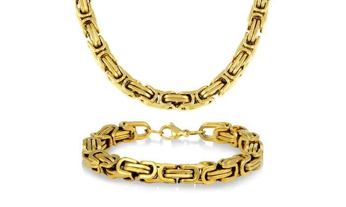 Up To 69% Off on Byzantine Necklace and Bracelet | Groupon Goods