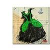 Roderick Stevens Black n Green Swirls Canvas Print