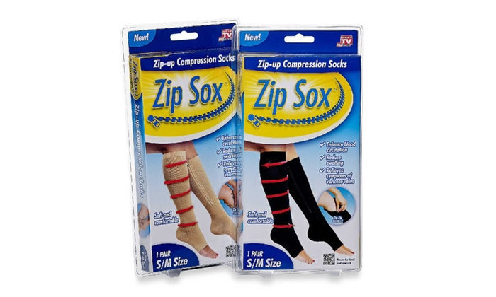 As seen on TV Zippered Compression Socks