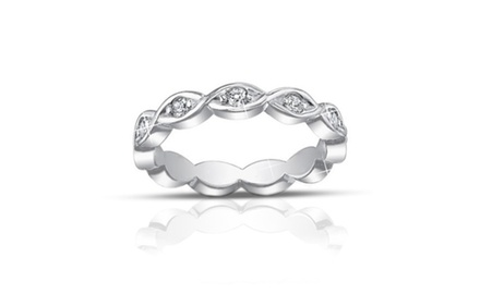 0.60 ct Ladies Round Cut Diamond Eternity Band Ring
