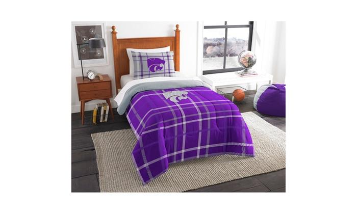 COL 835 Kansas State Twin Comforter and Sham