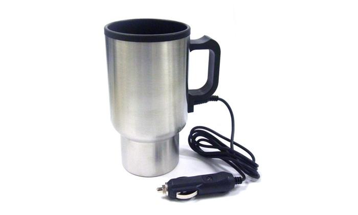 Coffee Travel Mug Stainless Steel W Car Lighter Plug