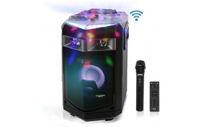 Pyle PWMKRDJ84BT 500W Wireless Portable Bluetooth PA Speaker System