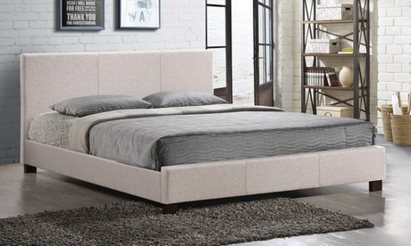 Elizabeth Fabric Upholstered Panel-Stitched Platform Bed fbe92770-8501-46f9-b4df-8c6cf51e4a03