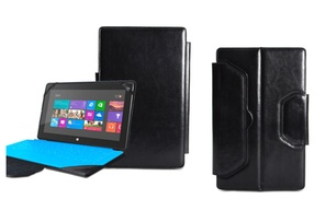 Giga Outlet: Black PU Leather Magnetic Portfolio Case for Microsoft Surface Pro RT