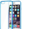 Insten Clear Blue Bumper Clip-on Hard Cover Case iPhone 6 4.7""