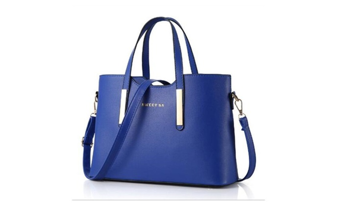 Women's PU Leather Shoulder Bags Top-Handle Handbag Tote Bag