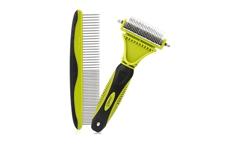 2 Sided Blade Rake Comb & Grooming Brush for dog and cat 2f6d8f04-08e0-4a7a-abaa-96a347caa24f