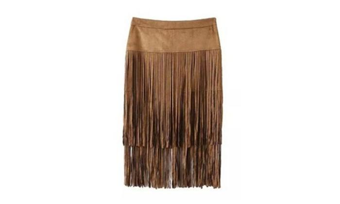 Women's Vogue Vintage Tassel Glam Skirt
