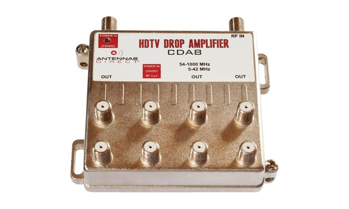 Antennas Direct Cda8 Output TV caTV Distribution Amplifier (8 Way)