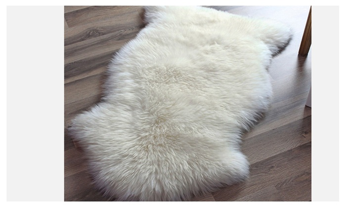 Genuine Australian Sheepskin Rug One Pelt Ivory Natural Fur Single