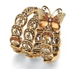 Crystal Butterfly Wrap Bracelet in Antiqued Yellow Gold Tone