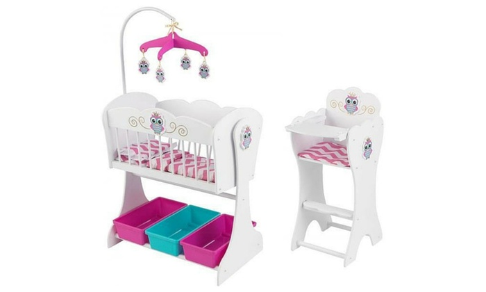 Bon KidKraft Little Owl Doll Furniture Set