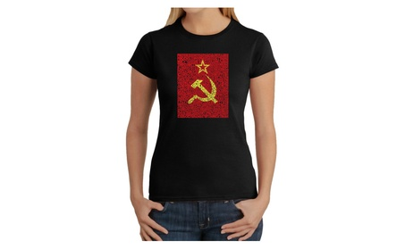 Women's T-Shirt - Lyrics to the Soviet National Anthem 58b3752d-3e1a-4cb5-9f11-64e9e2434efa