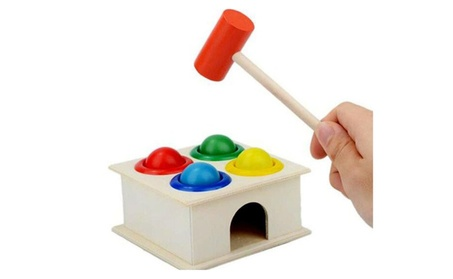 Funny Hammering Wooden Ball Children Early Learning Educational Toys e678692f-1010-4402-86de-12261c357ffb