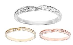 10k Gold 1/4ct Diamond Pave Bypass Wedding Band (g-h, I1-i2)