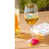 Cypress Home 12 Oz. Wine Glass with Silicone Base and Gift Box