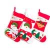 Santa Christmas Stockings Santa & Reindeer Set W/ Italian Set of 3