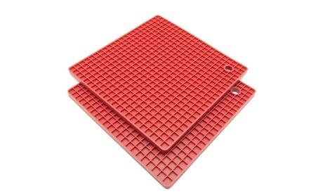 Freshware 7-Inch Silicone Honeycomb Pot Holders and Trivets, Set of 2 5e9cc68c-f66b-4c12-b03f-395ca4a22f64