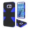 Insten Hard Hybrid Rubberized Case For Samsung Galaxy S7 Black/blue