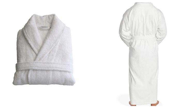 White Unisex Long Soft Luxury Bathrobe