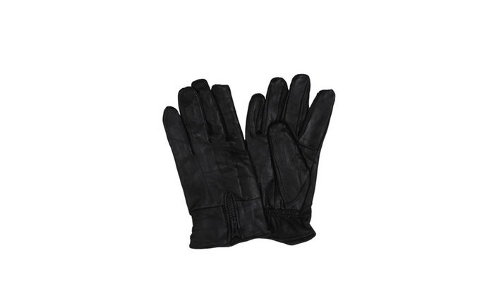 Sakkas Men's Classic Leather Plush Lined Driving Gloves