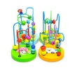 New Wooden Children Educational Mini Around Beads Colorful Game Toys