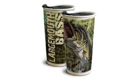 American Expedition Largemouth Bass 12 oz Ceramic Travel Mug f709eebd-1b2b-48d0-96c5-a723f8c26b9a