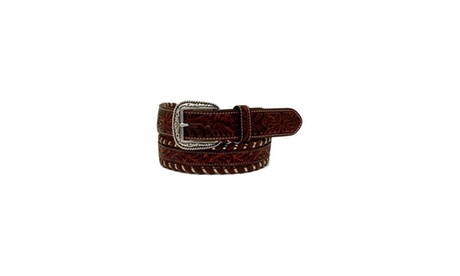 Ariat A1027408-44 Floral Embossed Mens Steel Lace Western Belt Size - 44