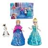 Disney Frozen Doll Set Glitter Glider Anna Elsa Olaf Movie Ice Scene