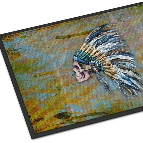 Carolines Treasures Day Of The Dead Indian Skull Doormat 24 H X 36 W Multicolor Home Décor Home Décor