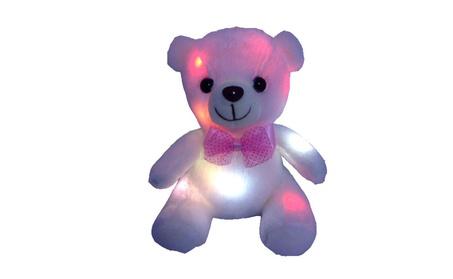 LED Colorful Glowing Cartoon Teddy Bear Plush Doll Funny Birthday Gift 50b646a9-7d3c-49c9-80b4-386e9c63f9ab