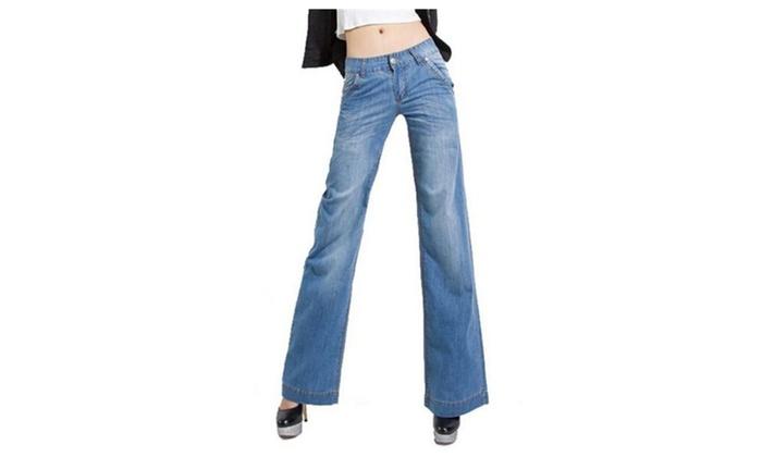 Women's Loose Casual Elastic Jeans