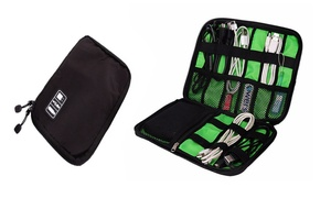 Multi-Pocket Electronic Accessories Organizer