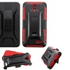 Insten Hard Layer Silicone Case w Holster For ZTE Prestige Black Red