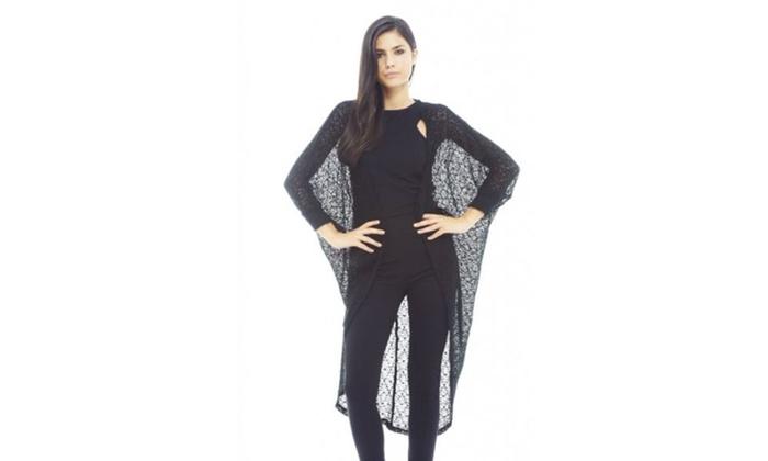 AX Paris Plain Knitted Long Sleeve  Top