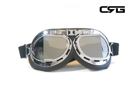 CRG Vintage Bike Aviator Style Motorcycle Cruiser Scooter Goggles T08SSD