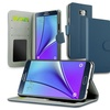 Galaxy Note 5 Case, by Insten Blue PU Wallet  Case Cover w/ Card Slot