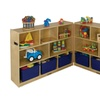 "ECR4Kids Birch 36"" Fold and Lock Cabinet - 8 Comp"