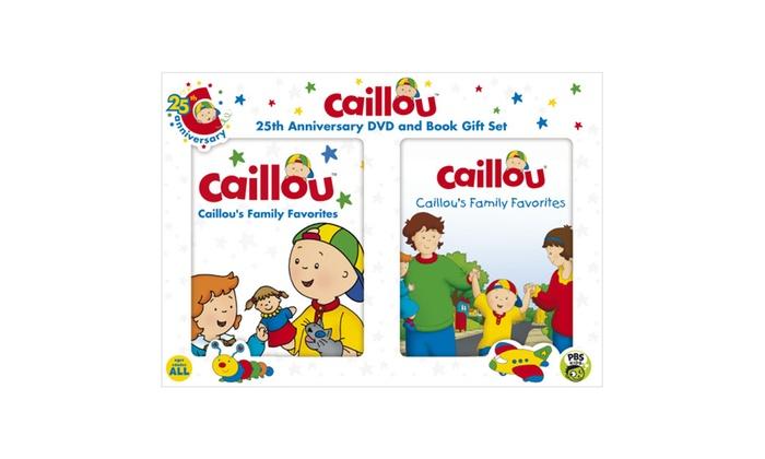 Caillou's Family Favorites DVD + Book | Groupon Caillou Family Collection 9 13