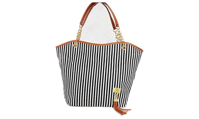 Women Street Snap Candid Tote Single Shoulder Canvas Bag Handbag - as picture / one size
