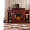 Tennyson Infrared Fireplace w/ Bookcases - Classic Mahogany