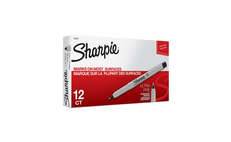 Sharpie Permanent Markers, Ultra Fine Point, Black, 12 Count 30705d42-4578-4319-8501-09ac32bc82f6