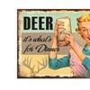 Rivers Edge Deer For Dinner Heavy Metal Sign 12in x 15.5in