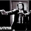 Pulp Fiction -Jackson and Travolta- B & W